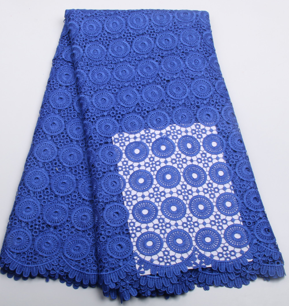 High Quality Multi colored African Water Soluble Guipure Lace Fabric Nigerian Lace Fabrics for Party Dress