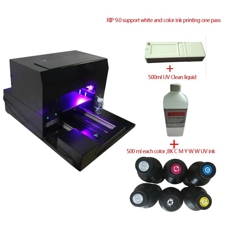 A3 taille UV lampe à led imprimante à plat pour stylo, coque de téléphone, verre, métal, céramique etc impression