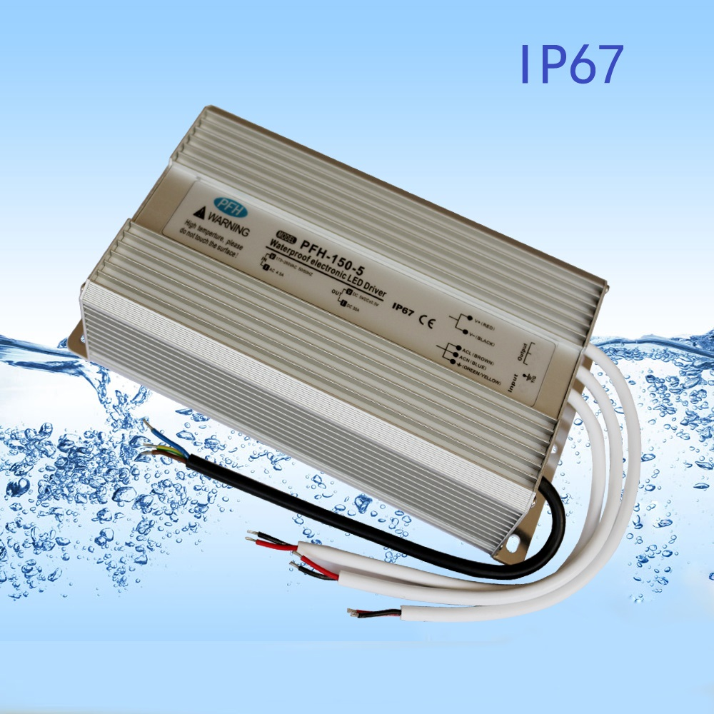 HoneyFly IP67 Waterproof LED Driver 150W 5V12V24V36V48V Constant Voltage Power Supply Lighting Transformer 90-130V/170-265V dc12v 100w ip67 waterproof constant voltage electronic led driver transformer power supply free shipping
