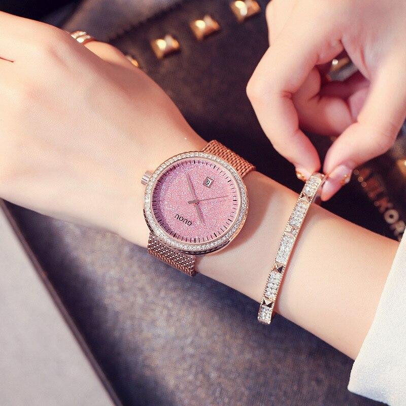 GUOU Relógios Das Mulheres Marca de Luxo Da Moda de Quartzo Das ... e3255854e8