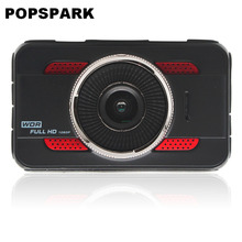 POPSPARK Full HD 1080P High-definition Video DVR Car Camera Auto Video Recorder 170 Wide Angle Lens Real-Time Recording Red
