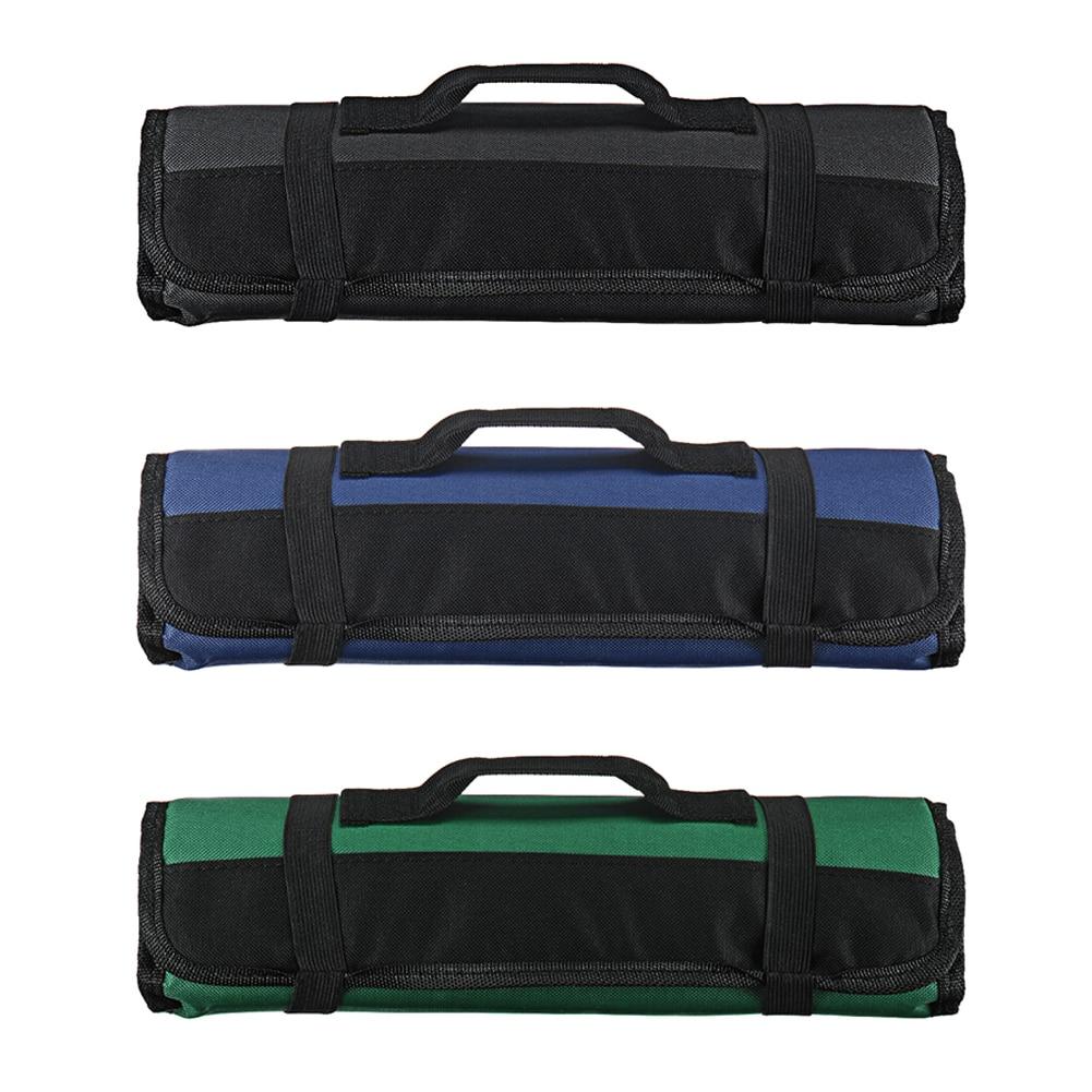 3 Colors Chef Knife Bag Roll Bag Carry Case Bag Kitchen Cooking Portable Durable Storage 22 Pockets Black Blue Green
