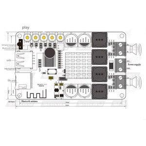 Image 2 - TPA3116 Bluetooth מקלט 50W * 2 דיגיטלי אודיו מגבר לוח TF כרטיס U דיסק נגן FM רדיו עם מרחוק contro אני 2 001