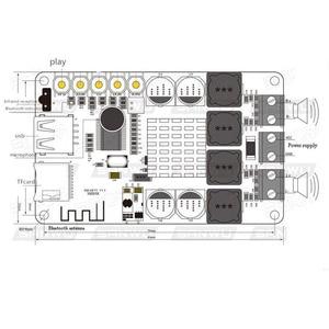 Image 2 - TPA3116 Bluetooth Receiver 50W*2 Digital Audio Amplifier Board TF card U disk player FM Radio With Remote contro I 2 001
