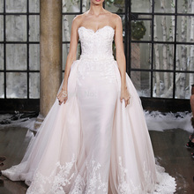Fnoexw Winter Sexy Two Pieces Train Back Wedding Dress