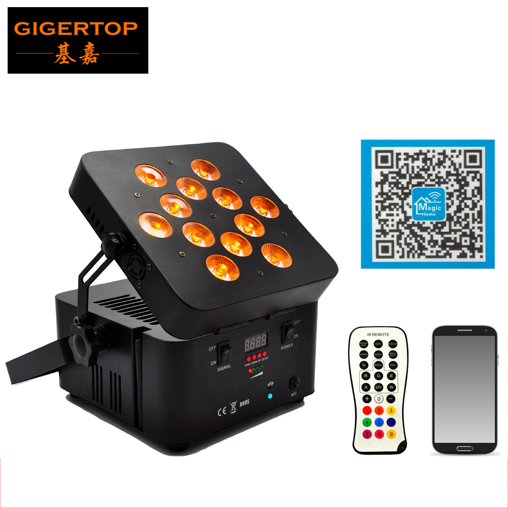 High Quality 12x15W 5IN1 RGBWA Led Flat Par Light with DMX 512 Battery Wireless Professional Stage Light 5/9CH Aluminum CaseHigh Quality 12x15W 5IN1 RGBWA Led Flat Par Light with DMX 512 Battery Wireless Professional Stage Light 5/9CH Aluminum Case
