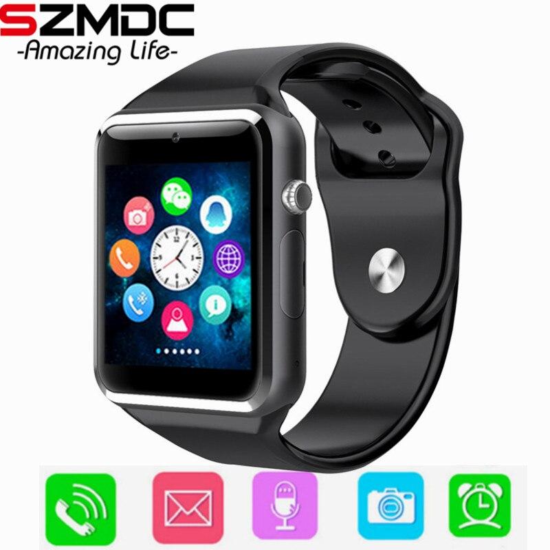 A1 kind Bluetooth Smart Uhr Mit Kamera Facebook Whatsapp Twitter Sync SMS Smartwatch Unterstützung SIM TF Karte Für IOS Android