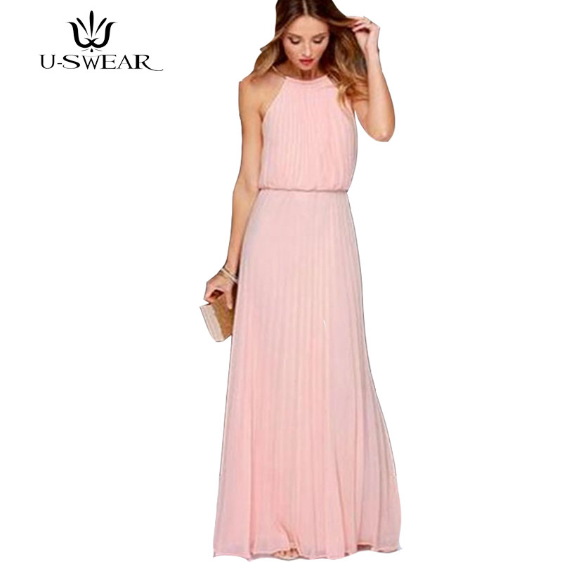 aa8936aa887 Maxi Mousseline O 2018 pink Light De white Femmes Robes Wine Manches red  Party Solide Blue ...