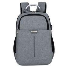 Купить с кэшбэком Female and men Backpacks Anti theft Oxford Casual  Laptop Backpack With USB Charge Waterproof Travel Bags Computer Bag