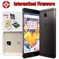 "Bg original oneplus 3 t uno más 3 t teléfono móvil snapdragon 821 quad core 5.5 ""6 GB 64 GB Android 6.0 LTE NFC 16MP de Huellas Dactilares"