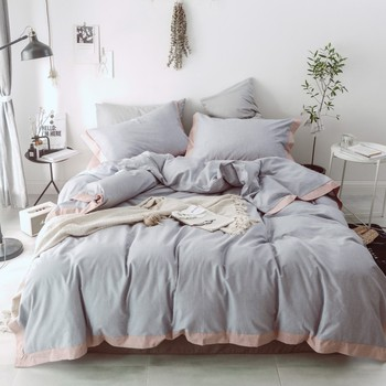 4Pcs 100% Cotton Coloring Luxury Bedding Sets/Bedclothes King Queen size Duvet Cover Bed Sheet Linens set Pillowcases