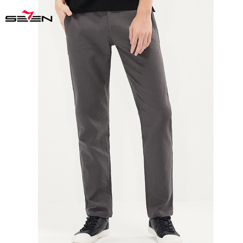 Seven7 2019 Summer Men Fashion Slim Fit Male Trousers Classic Casual Pants High Quality Mens Business Brand Clothing  116S88090