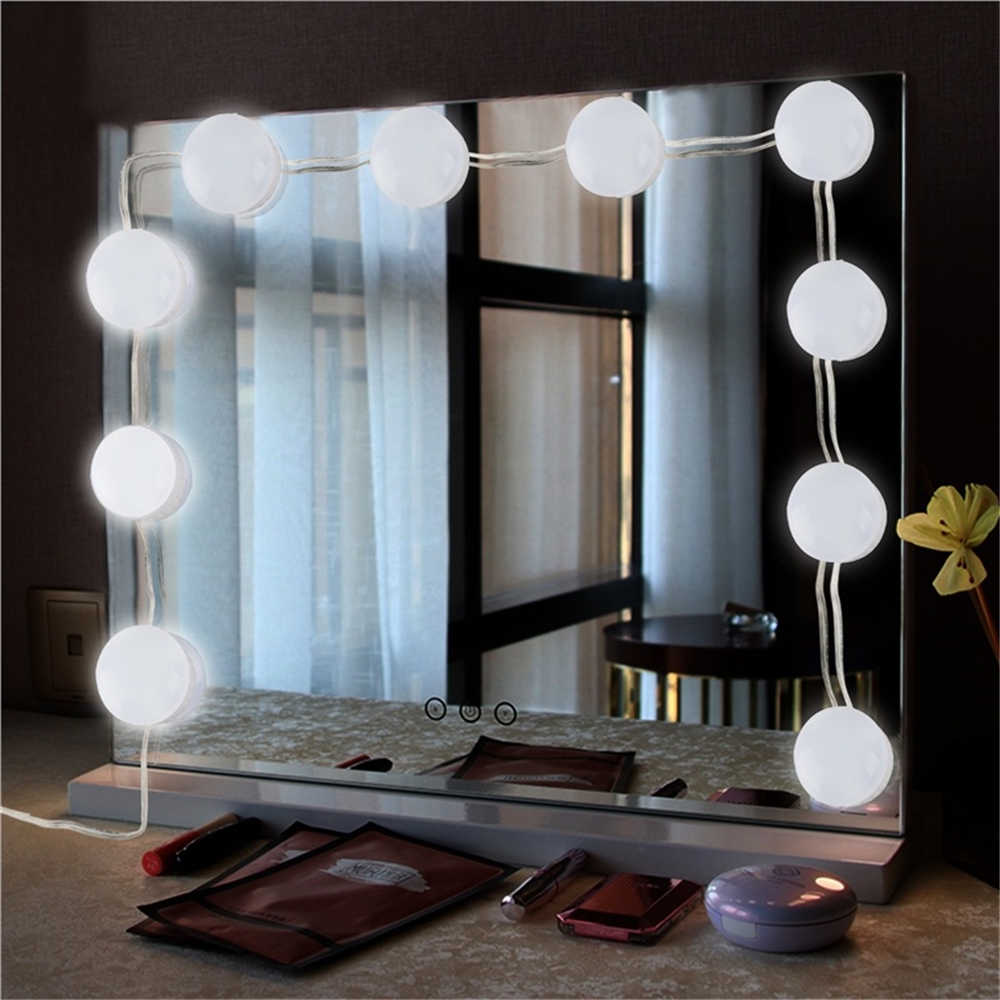 Светодиодный светильник с питанием от USB в голливудском стиле для макияжа, 5 В, осветительная студия, зеркало для ванной, заполняющий свет, светодиодный светильник, косметическая одежда, настольная лампа
