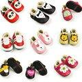 Nueva Otoño Invierno Encantador Lindo Recién Nacido Bebé Niños Primeros Caminante Zapatos de Cuero Genuinos Mocasines Niño Niña Zapato de Goma Suave