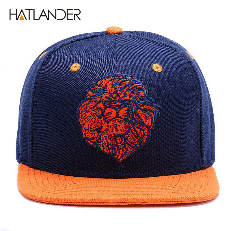 386ba4c7055 High quality lion face embroidery snapback cap cool king hip hop hat for  boys and girls-in Baseball Caps from Apparel Accessories on Aliexpress.com  ...