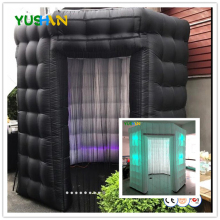 Octagon Inflatable Photo Booth Tassel Curtain Photo Booth with 16 Colors Changing LED Lights Air Blower photo booth backdrops цена 2017