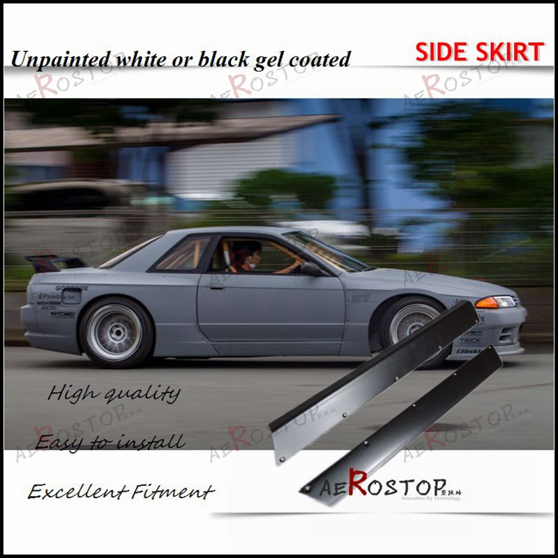 US $205 0  89 94 R32 GTR ROCKET BUNNY PANDEM STYLE SIDE SKIRT 2PCS  UNPAINTED FRP FIBERGLASS-in Body Kits from Automobiles & Motorcycles on