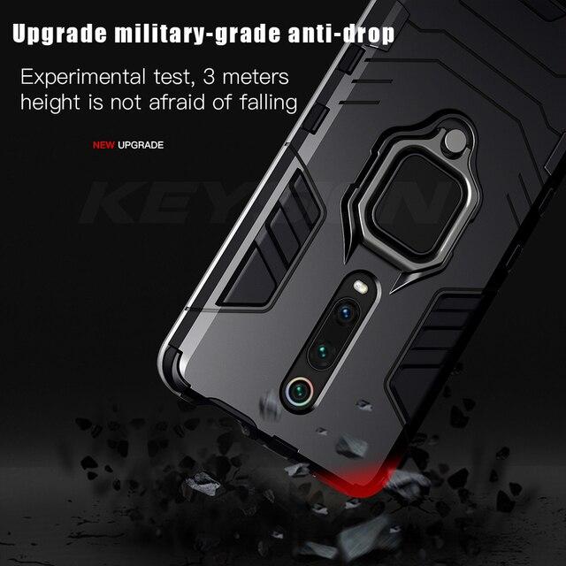 Keysion Antiurto Cassa Dell'armatura per Red Mi K20 K20 Nota Pro 7 7a 6 8 Pro Supporto Del Basamento Auto Anello copertura Del Telefono per Xiao Mi Mi 9T Pro Mi 9 Se CC9e Mi 8 Lite A2 A3 5
