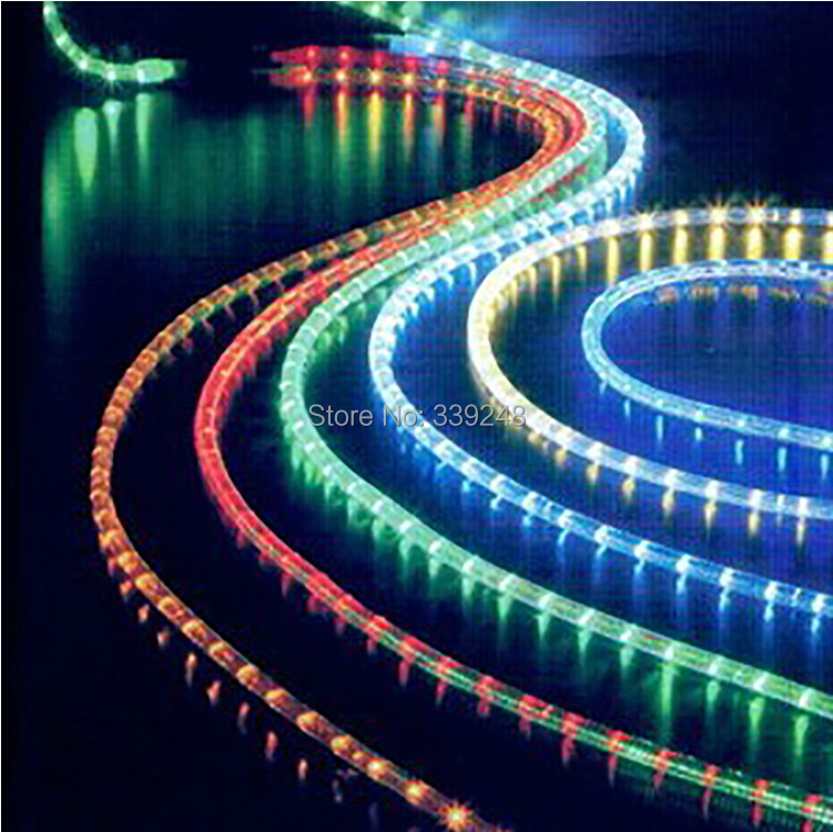 10 meters christmas decoration led fairy lights round tube string light waterproof ip67 party underwater light swimming pool in led string from lights