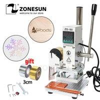 ZONESUN ZS 90 Hot Foil Stamping Machine Manual Bronzing embosser PVC Card leather paper wood embossing stamping branding iron