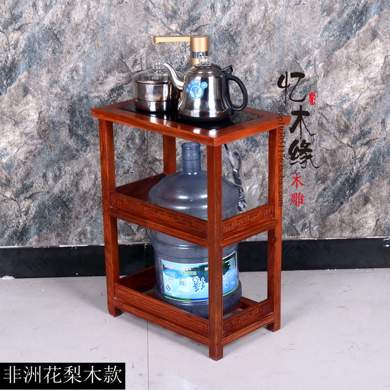 Shipping mahogany small tea table rosewood wood tea table with tea tea Taiwan mobile wheel car frame tea tea chinese oolong tea 9gx5cps anxi tieguanyin loose tea tikuanyin oolong green tie guan yin tea 1752 organic slimming tea