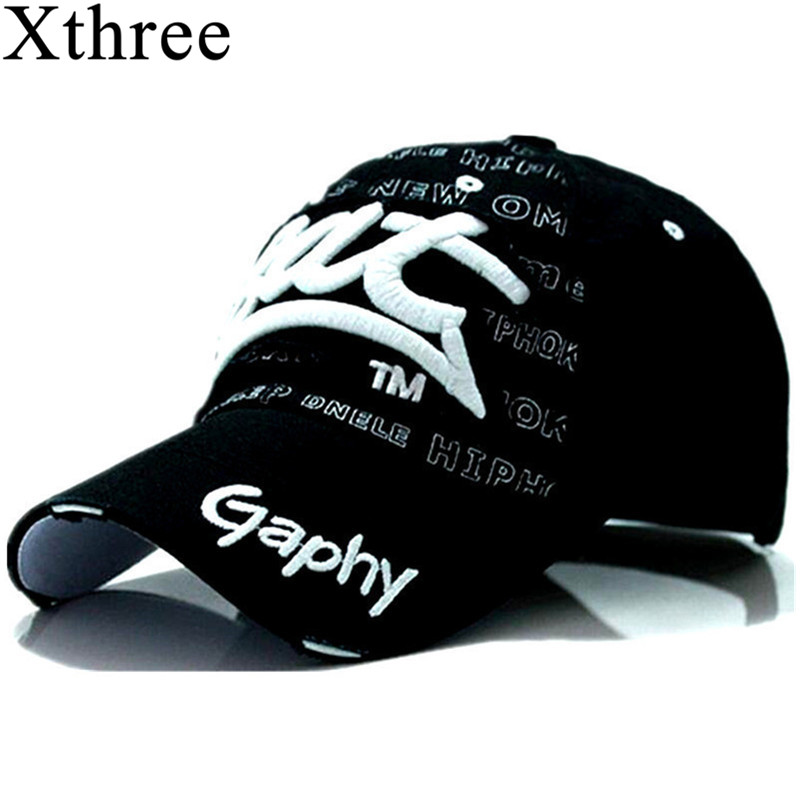 Xthree Wholesale Snapback Hats Baseball Cap Hats Hip Hop Fitted Cheap Hats For Men Women Gorras Curved Brim Hats Damage Cap(China)