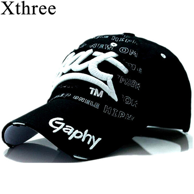 Xthree Gaphy Hip Hop Ftted Curved Brim Hats Snapbacks Caps