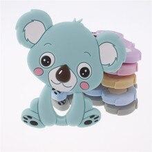 10Pcs Silicone Cartoon Koala Bijtring Hanger Bpa Gratis Silicone Tandjes Ketting Food Grade Kerstversiering