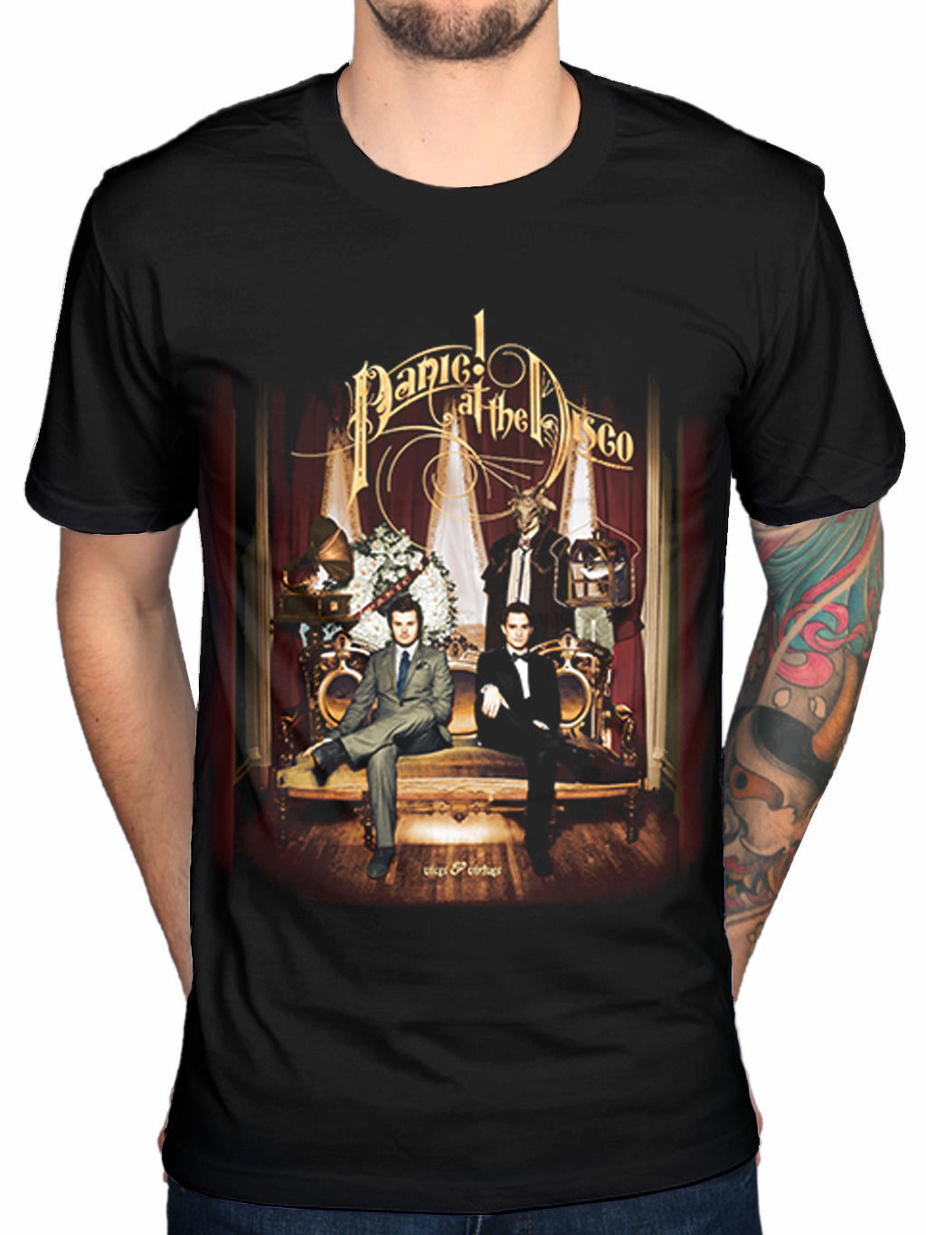 Panic At The Disco Vices & Virtues Mens Black Cotton Top T Shirt Tee