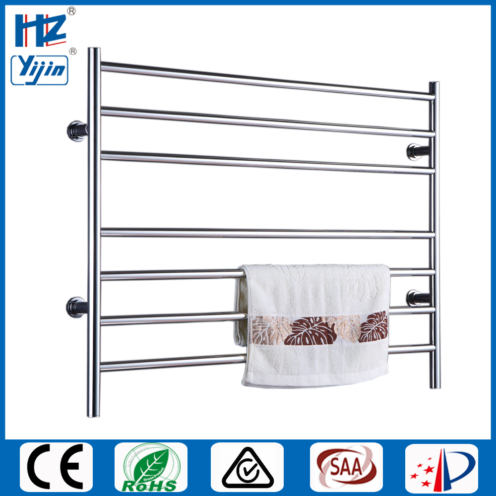 Wide chromed Finish <font><b>SUS</b></font> <font><b>304</b></font> Heated Towel Rail towel warmer Concealed/Exposed Wiring Electric Towel Radiator towel rail HZ-920A image