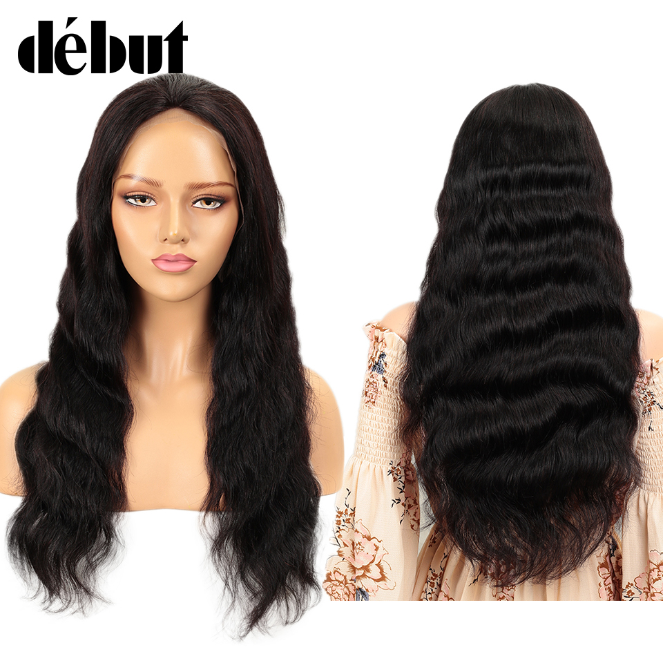 Debut 13X4 Remy Brazilian Body Wave Lace Frontal Wigs For Black Women Free Customized Wigs 150% Lace Front Human Hair Wigs