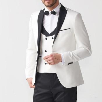 380972eac Moda hombre trajes de boda clásico 1 botón marrón hombres traje Terno  Masculino Slim Fit Blazer ...
