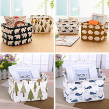 New Arrival 4 Types Waterproof Cotton Linen Storage Bucket Washing Clothes Durable Laundry Storage Basket Bag