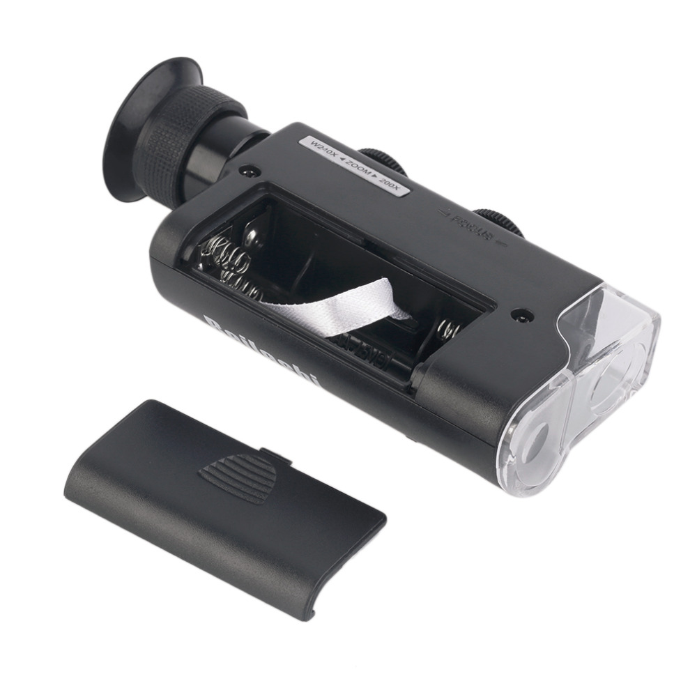 2017 m. NAUJAS Mini nešiojamas mikroskopo kišenė 200X ~ 240X - Matavimo prietaisai - Nuotrauka 2