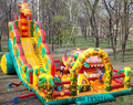Factory Price,Commercial Use inflatable Bounce, Inflatable Castle Inflatable Slide Combo Fun City With Blower