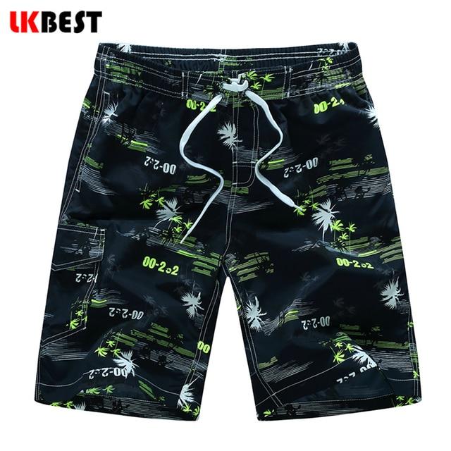 LKBEST Новая мода мужчины бордшорты печати quick dry мужской пляж шорты Европа плюс размер мужская купальники шорты M-5XL N1526