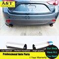 Автомобиль стайлинг Новое Обновление Стайлинга Автомобилей Выхлопные Трубы Для Mazda 3 Axela Хэтчбек 2014 2015 Лучшее Качество Бесплатная Доставка