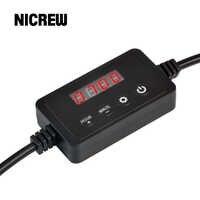 Nicrew светодиодный светильник Диммер контроллер модулятор для аквариума светодиодный светильник ing синхронизации затемнения Системы