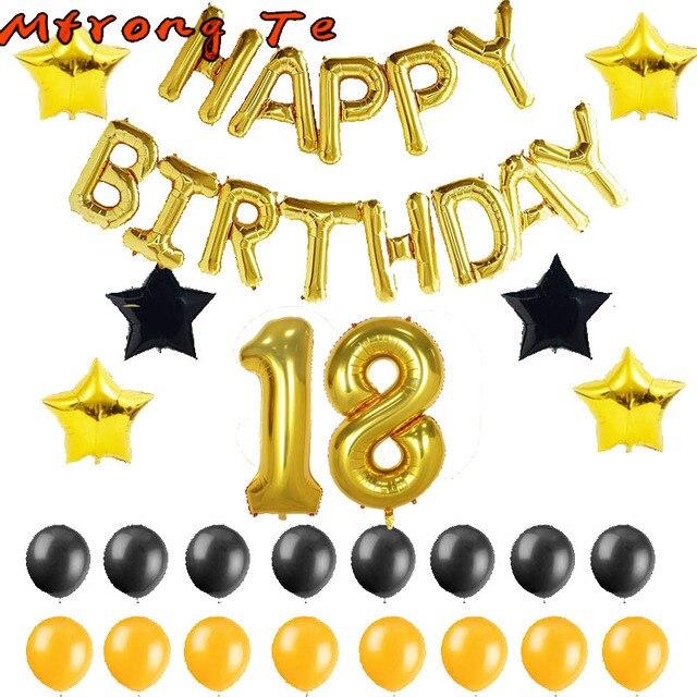 71377f8bd Mtrong Te 37 piezas 40 pulgadas América número 18 globos 18th cumpleaños  fiesta decoración gigante foil