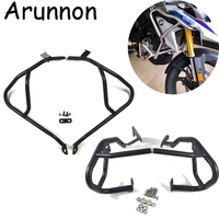Arunnon For BMW G310GS G310 GS 2017 2018 Motorcycle Tank protector Upper & Lower Carsh Bars Guard Engine Bumper Cover Black