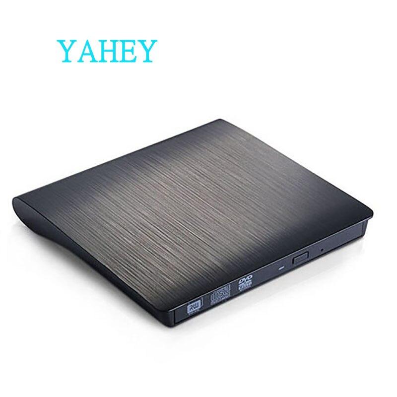 Externo USB 2,0 CD/DVD ROM reproductor de disco óptico DVD RW lector y escritor de grabadora portátil para portátiles PC windows 7/8/10