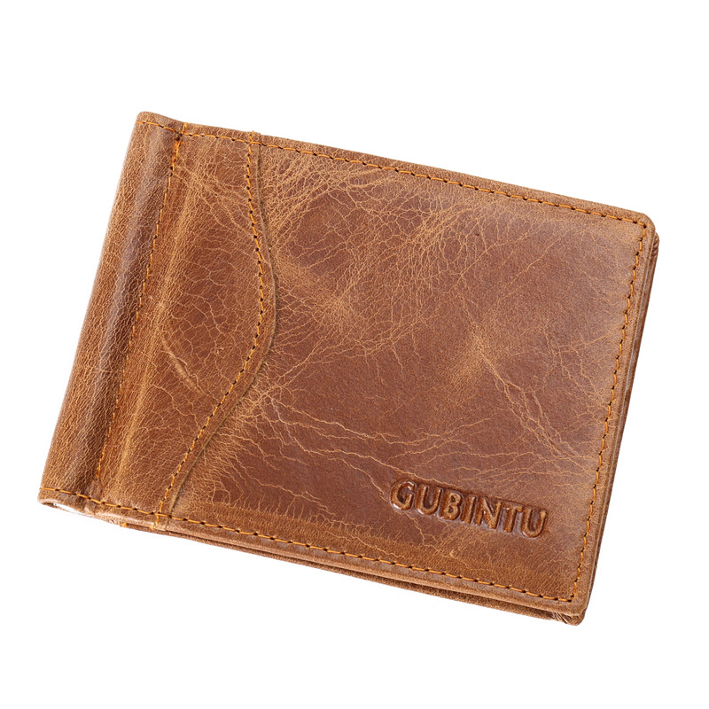2c0b208ab31 RFID Blocking Bifold Slim Genuine Leather Thin Minimalist Front Pocket  Wallets for Men Money Clip Made From Full Grain Leather-in Money Clips from  Luggage ...