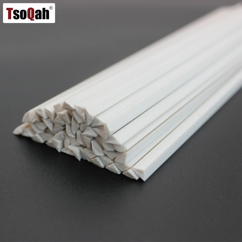 Triangle 4x4x6mm White Pvc Plastic Welding Rods For Car Bumper Repair