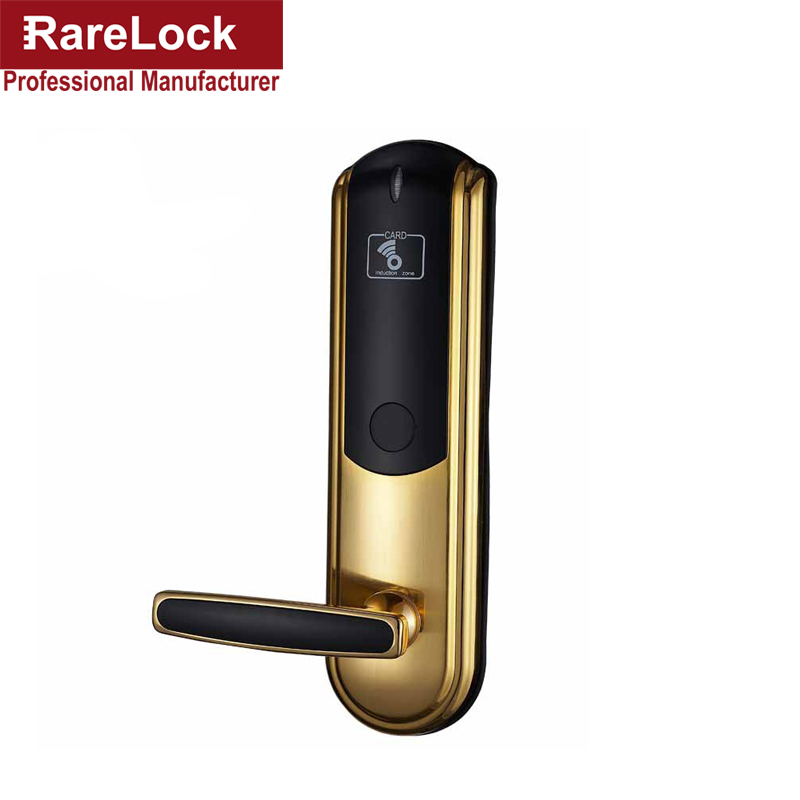 Rarelock Christmas Supplies Digital Electric Hotel Lock RFID for Hotel Office Women Bag Dress Shop Door Haredware DIY a hotel lock system rfid t5577 hotel lock gold silver zinc alloy forging material sn ca 8037