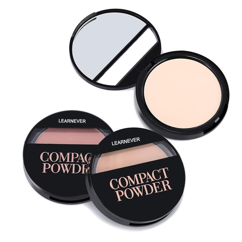New Soft Translucent Compact Pressed Powder Face Contour Palette Finishing Powder Setting Makeup Bare Mineralize Cosmetic image