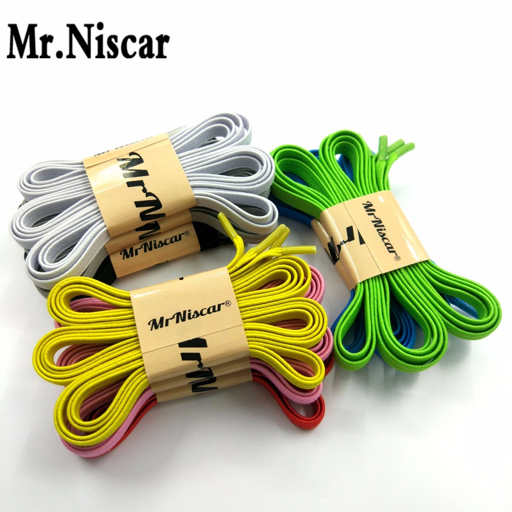 Mr.Niscar 1 Pair Locking No Tie Lazy Shoelaces Sneaker Elastic Shoelaces Adult Children Safe Elastic Shoe Lace Cord 110cmX0.6cmMr.Niscar 1 Pair Locking No Tie Lazy Shoelaces Sneaker Elastic Shoelaces Adult Children Safe Elastic Shoe Lace Cord 110cmX0.6cm