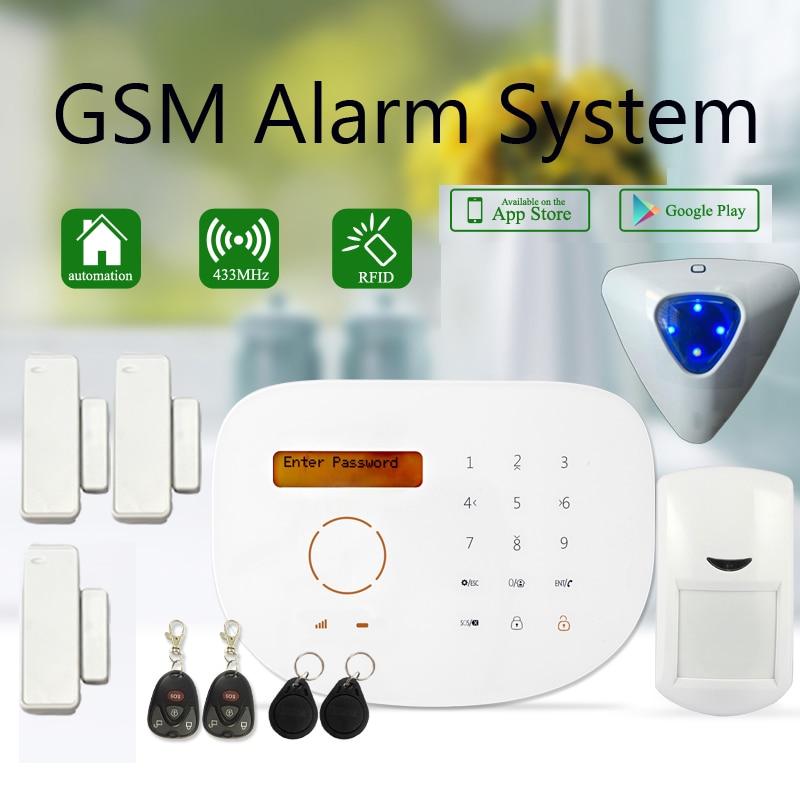 GS-S2G Wireless/wired Phone SIM GSM Home Burglar Anti-thief Security GSM Alarm System English Word Menu Alarm Sensor kit бордюр fap pura avana matita 2x56