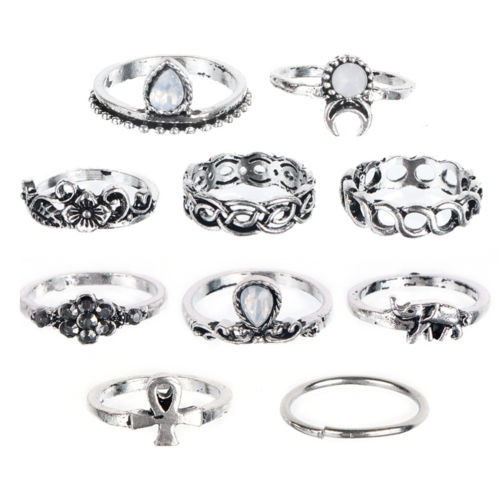 HTB1qVd6LXXXXXaVXFXXq6xXFXXX3 Bohemian 10-Pieces Opal Vintage Knuckle Ring Set For Women - 2 Colors