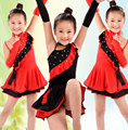 Latin dance dress for girls samba dress ballroom dancing dress dancewear niños niño vestido de baile latino traje de ballet niñas