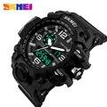 Big dial 2017 relógio digital de skmei s choque militar do exército os homens Assistir Data Calendário Resistente À Água LED Esporte Relógios Para homens